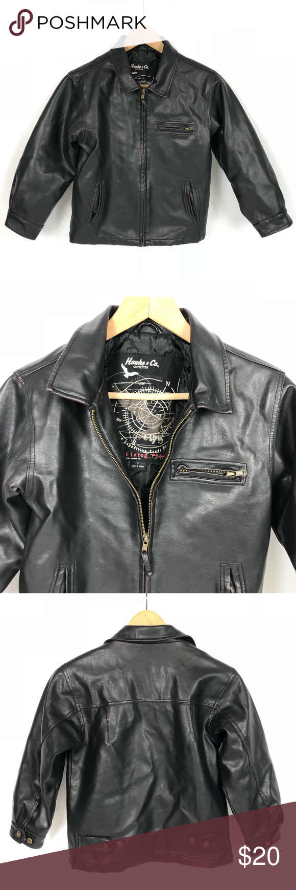 Hawke & Co. Brown Leather Bomber Jacket 7 Brown leather