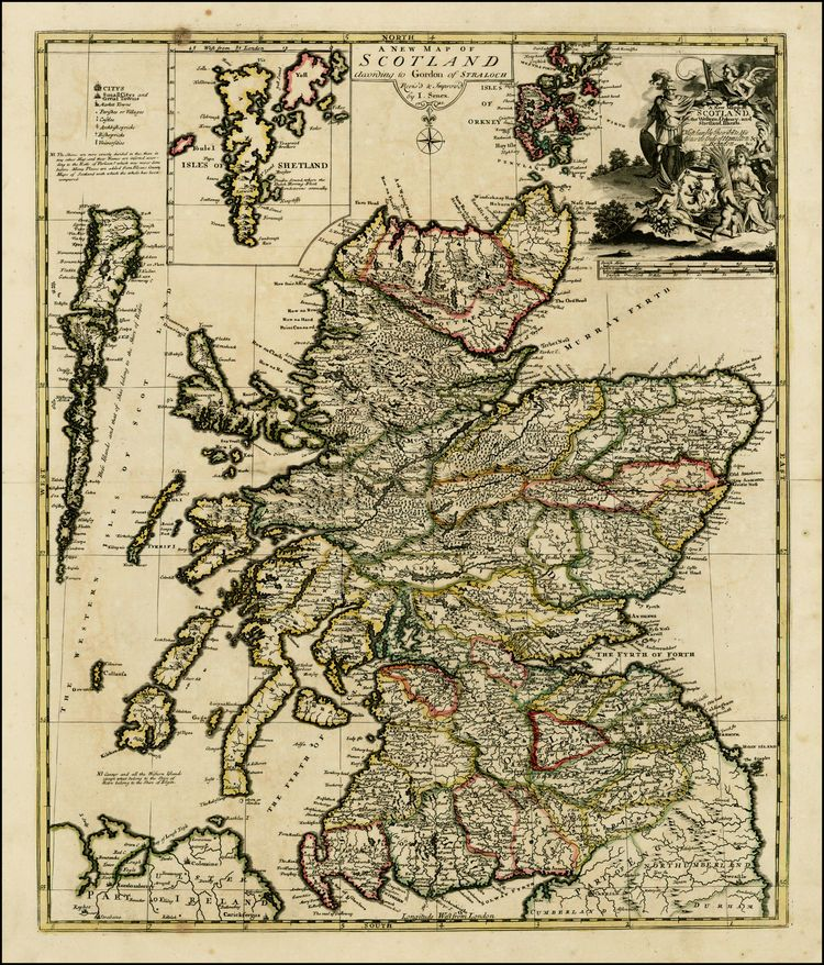A New Map of Scotland According to Gordon of Straloch       1721