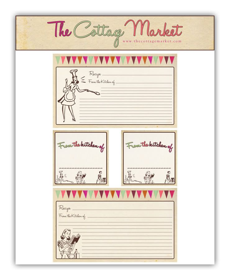 Free Printable Recipe Cards and more Part 2 & Thankful Thursday ...