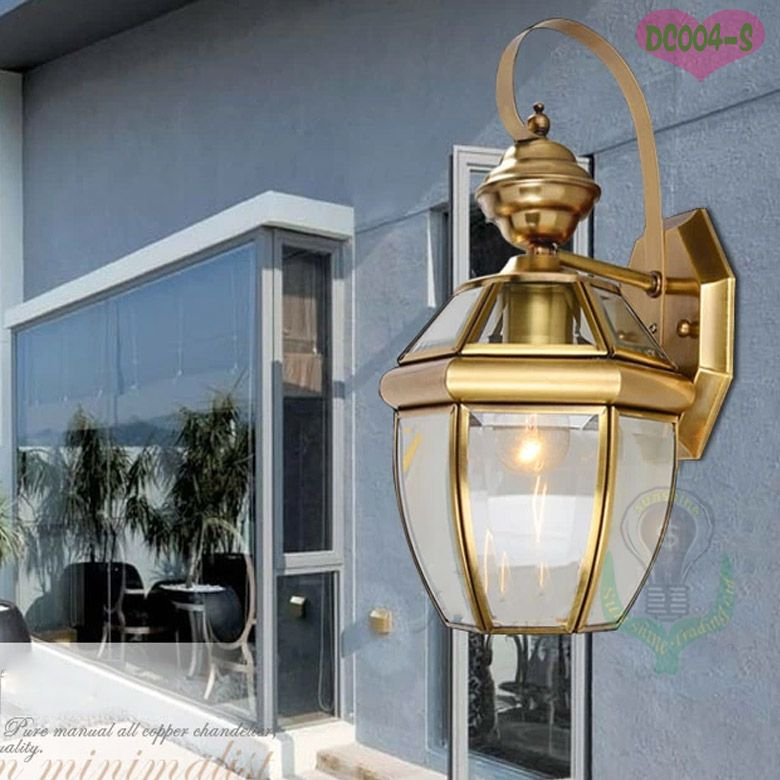 Luxury balcony anti corrosion outdoor lighting bronze wall lamp luxury balcony anti corrosion outdoor lighting bronze wall lamp wholesale copper wall lamp freeshipping 8500 aloadofball Image collections