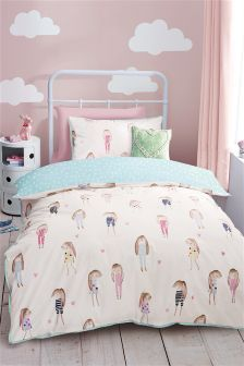Watercolour Bunnies Cotton Rich Print Bed Set