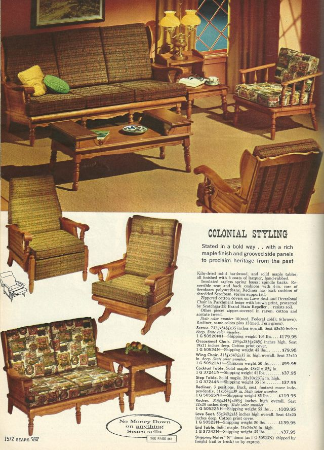 1960s furniture pictures | vintage home decorating: 1960s living