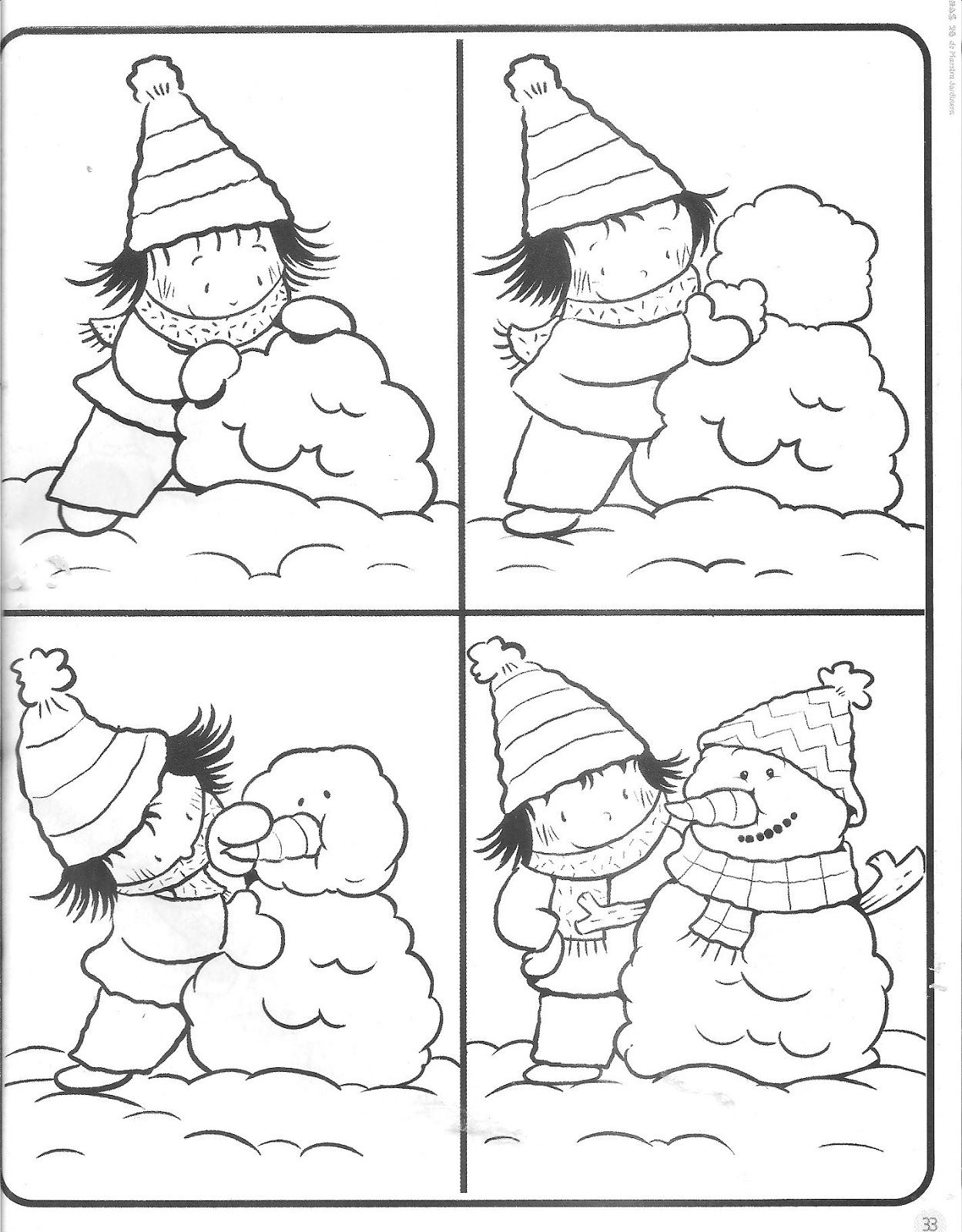 INVIERNO   Invierno   Pinterest   Secuencias temporales, Colorear y ...
