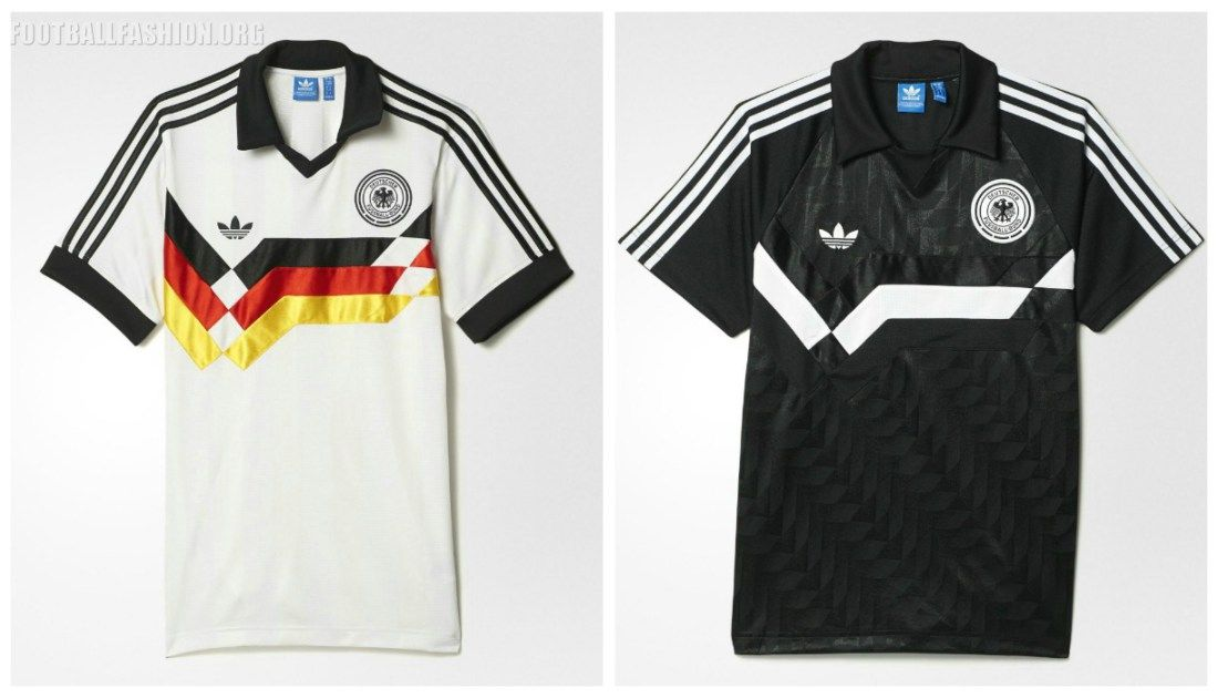 0d481e03fa8 Germany 1988 1991 adidas Originals Retro Soccer Jersey