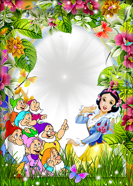 Snow White And The Seven Dwarfs Kids Transparent Frame Cute Frames