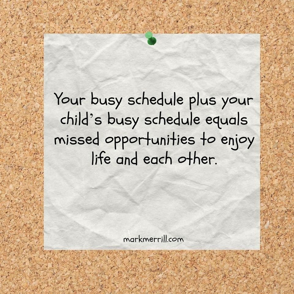 Too busy to enjoy each other...