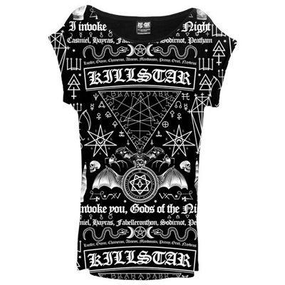 58c386202e9 KillStar Spell tuniek jurk met spreuken en symbolen zwart - Occult | A