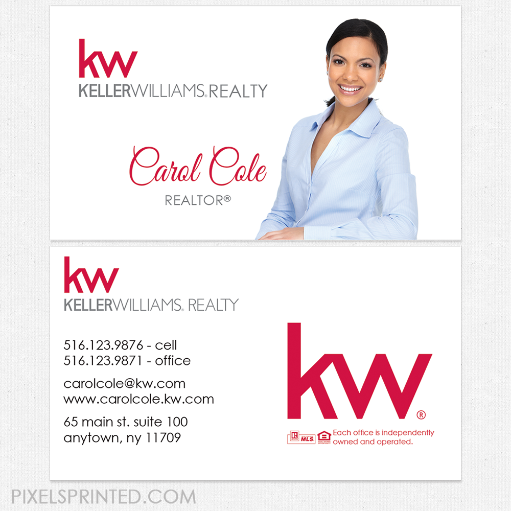Keller Williams business cards, KW business cards, realtor ...