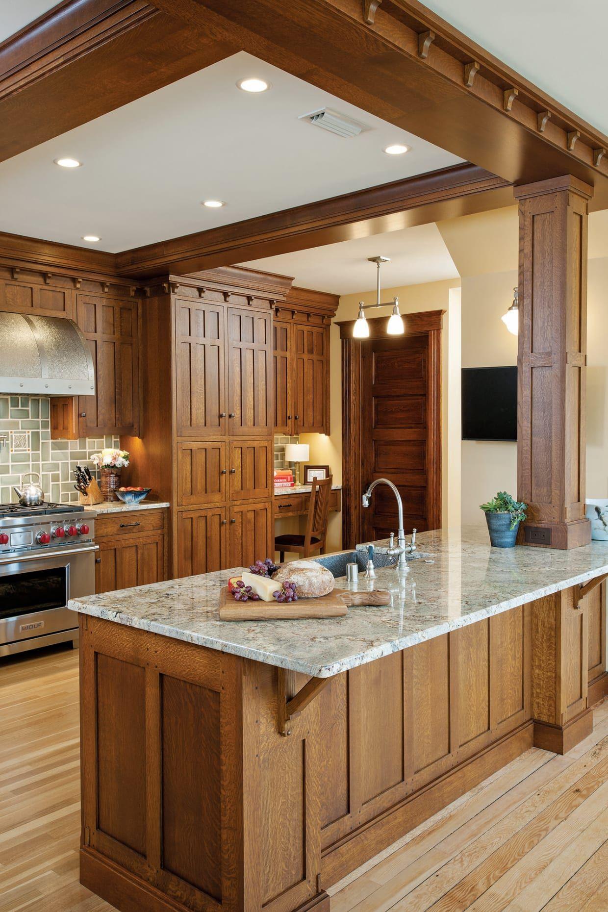 Craftsman Kitchen In 2020 Simple Kitchen Design Craftsman Kitchen Kitchen Styling