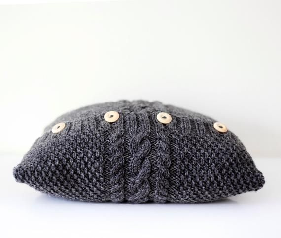 Hand knitted gray pillow cover - cable hand knit decorative pillows case - handm... -  - #Cable #case #Cover #Decorative #gray     You can knit incredibly beautiful baby and adult braids with the model that does not pass through the air. Find out about this stylish model now!    There are standard knitting type models that everyone can think of when they are called Knitting models. Such models are known an... #Cable #case #Cover #decorative #gray #Hand #handm #Knit #knitted #Pillow #pillows