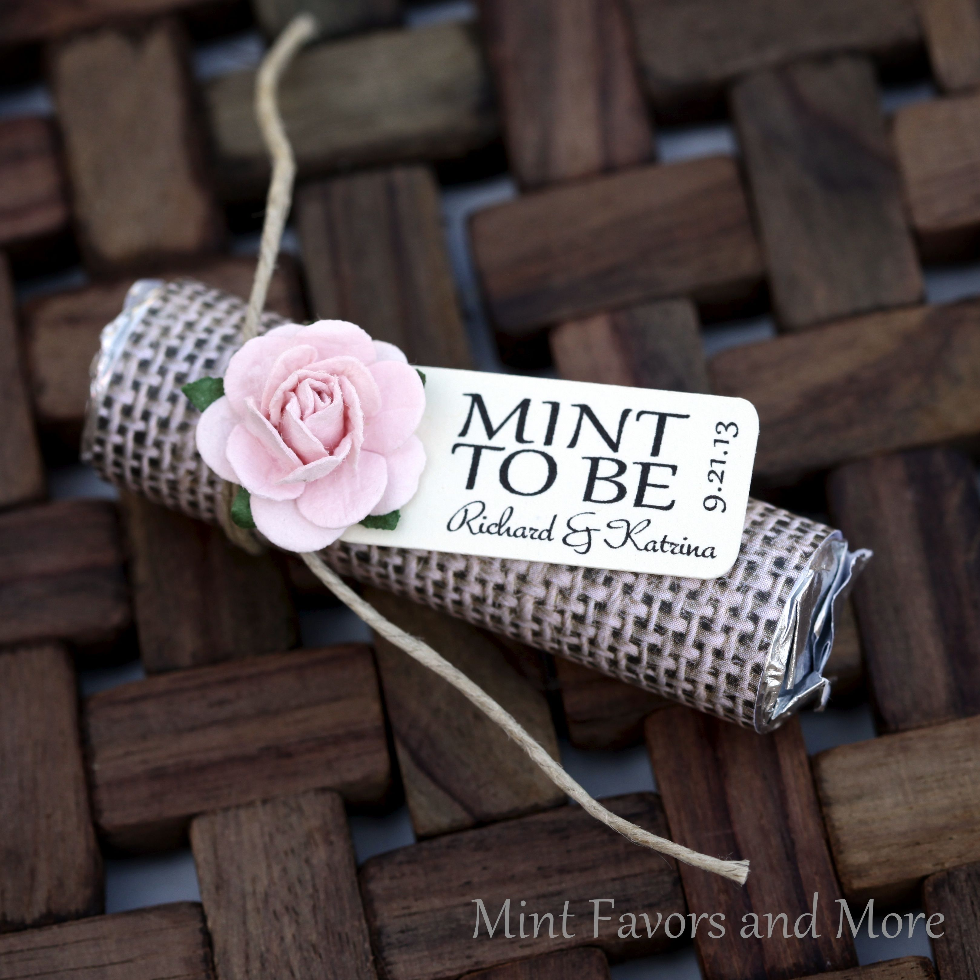 Personalized Mint Favors To Match Your Theme Mint Rolls Wrapped In