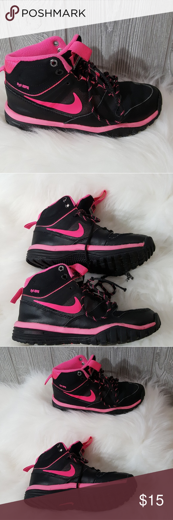 Nike 1Y H20 Repel Black Hot Pink High Top Sharp H2O -3683
