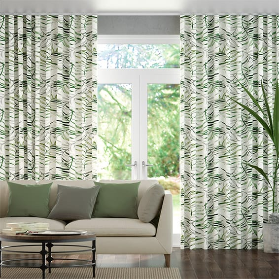 Wave Kentia Linen Leaf Curtains In 2020