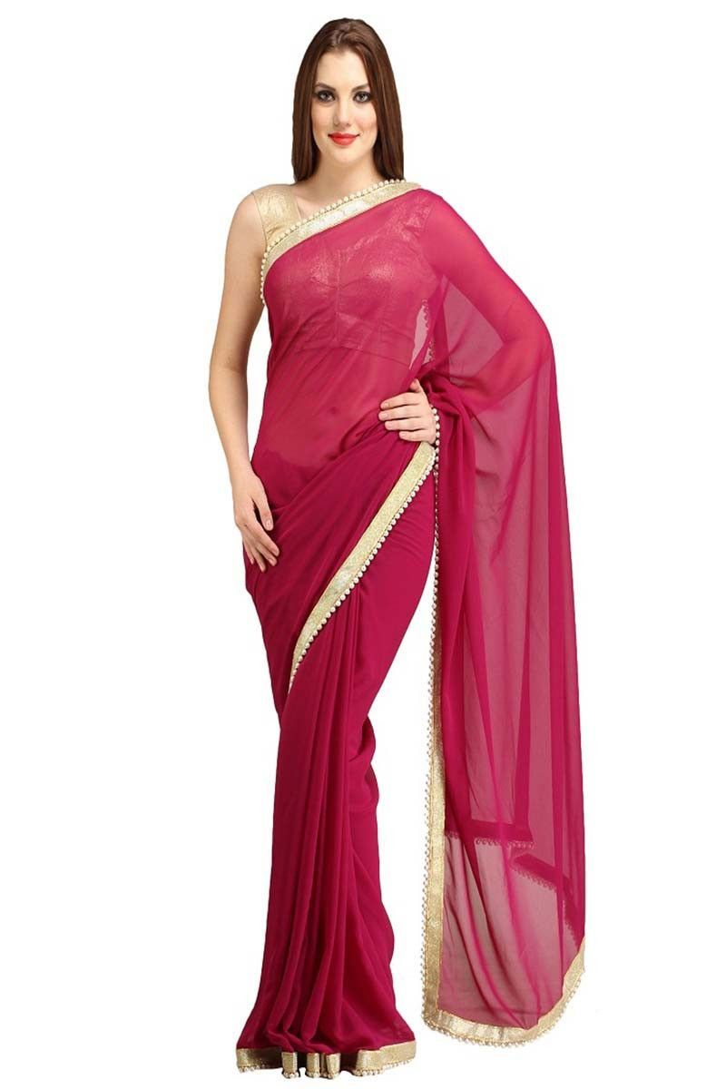 Maroon silk saree buy maroon faux georgette party wear saree online in low price at