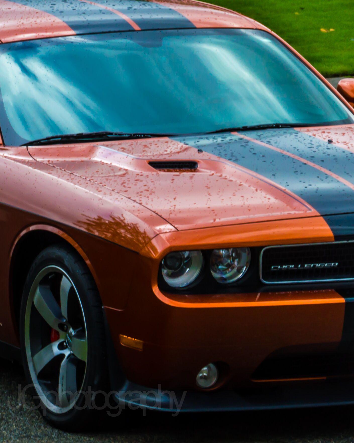 2011 Challenger Srt8 6 4l Hemi 392 W 470 Hp Burnt Orange W Rally Stripes Carros