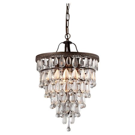Illuminate your dining room or foyer in chic style with this elegant pendant showcasing an