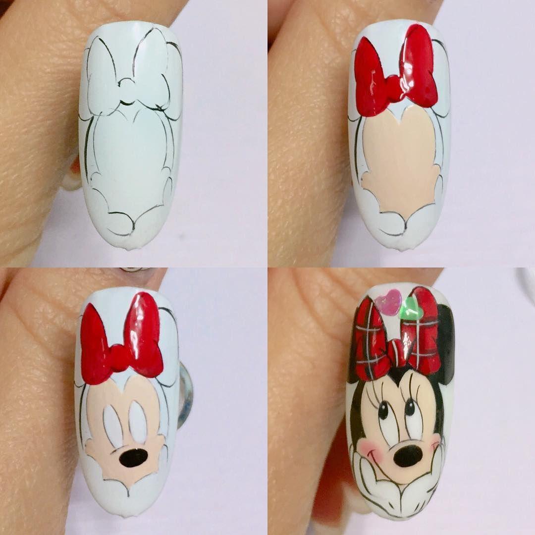 Icon nail design - Myszka Minnie Mini Mani & Care Official B