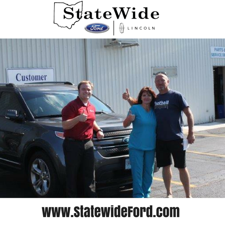 Mr. & Mrs. Fernandes taking delivery of their new Ford Explorer from Jackson Young. Thank you for your business!