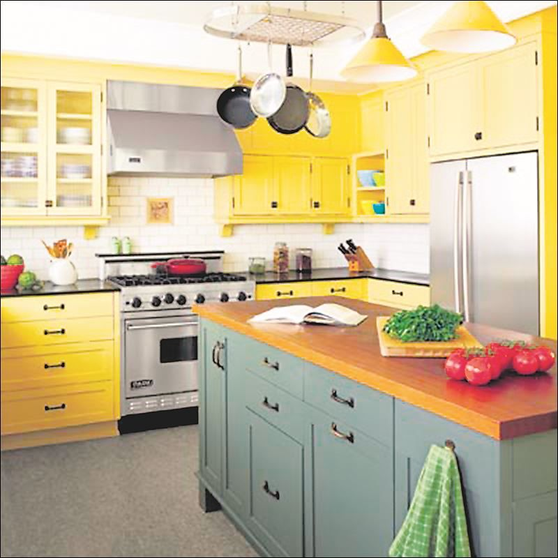 Bright Kitchen with Yellow and Green Accents | Kitchen | Pinterest ...