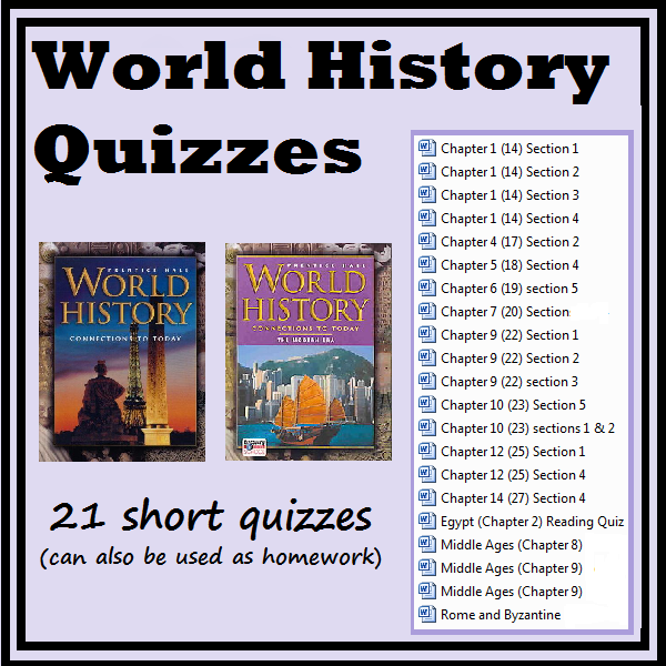 World history quizzes and homeworks homework history and social 21 homework or short answer quiz compatible with prentice hall world history connections to today fandeluxe Choice Image