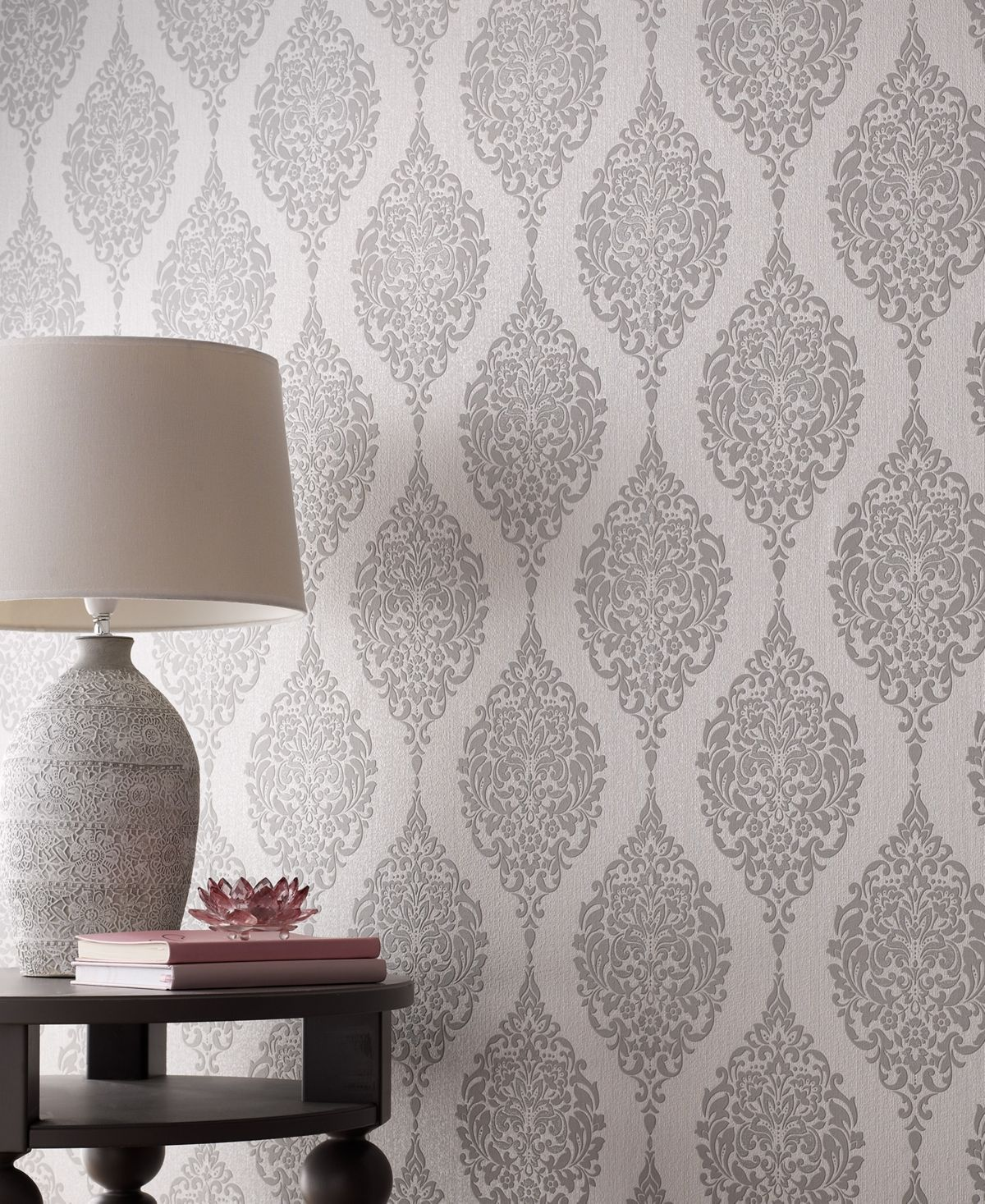 Graham & Brown Luna Gray Wallpaper & Reviews Wallpaper