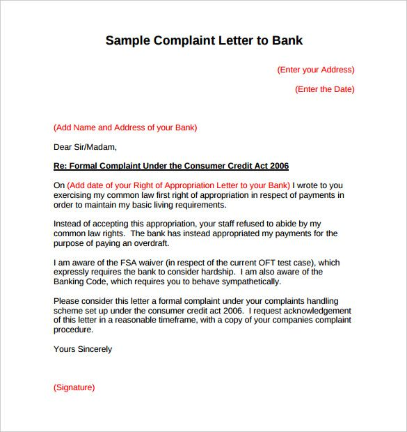 Complaint Letters To Companies Glamorous Complaint Letter To Bank For Credit Card Charges  Bu Tarz Benim .
