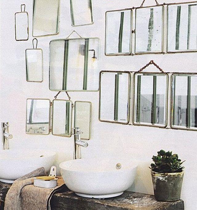 accumulation miroirs de barbier SP18 Pinterest Vintage mirrors