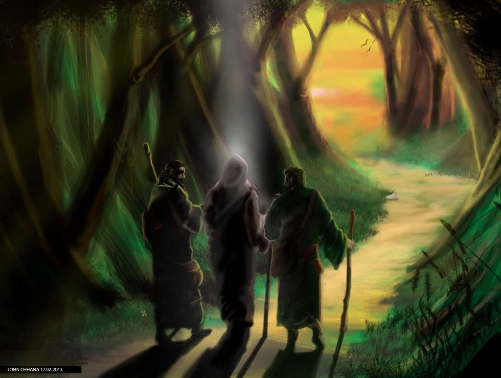 Free coloring pages road to emmaus - Road To Emmaus Luke 24