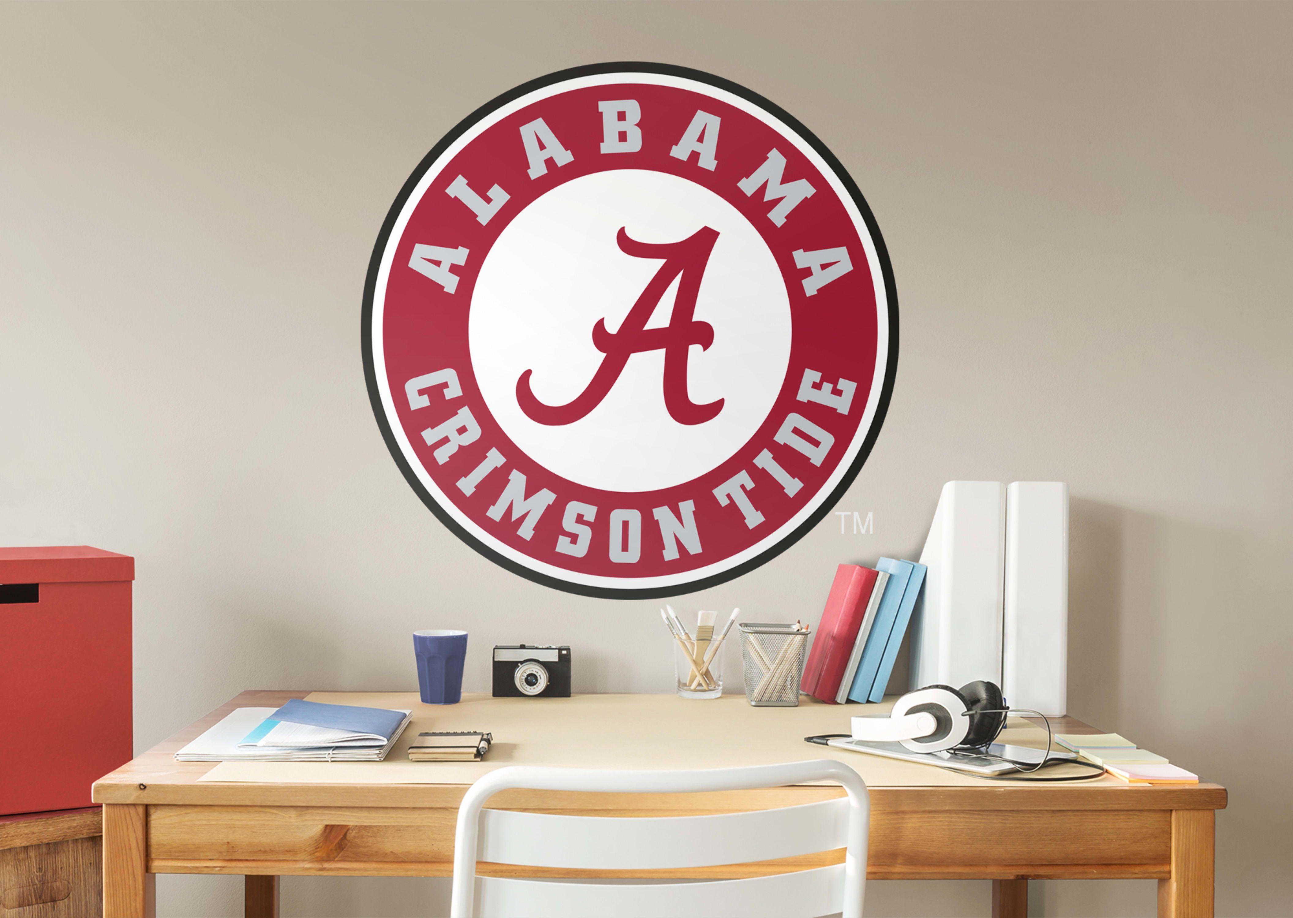 Alabama Crimson Tide Circle Logo Fathead Wall Decal Wall Decals Alabama Crimson Tide Alabama