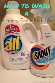 Lemonade Linings How To Wash A Memory Foam Bath Mat With Images