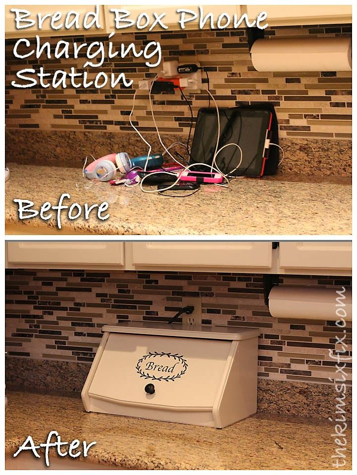 Electronics Charging Station Disguised as a Breadbox ...
