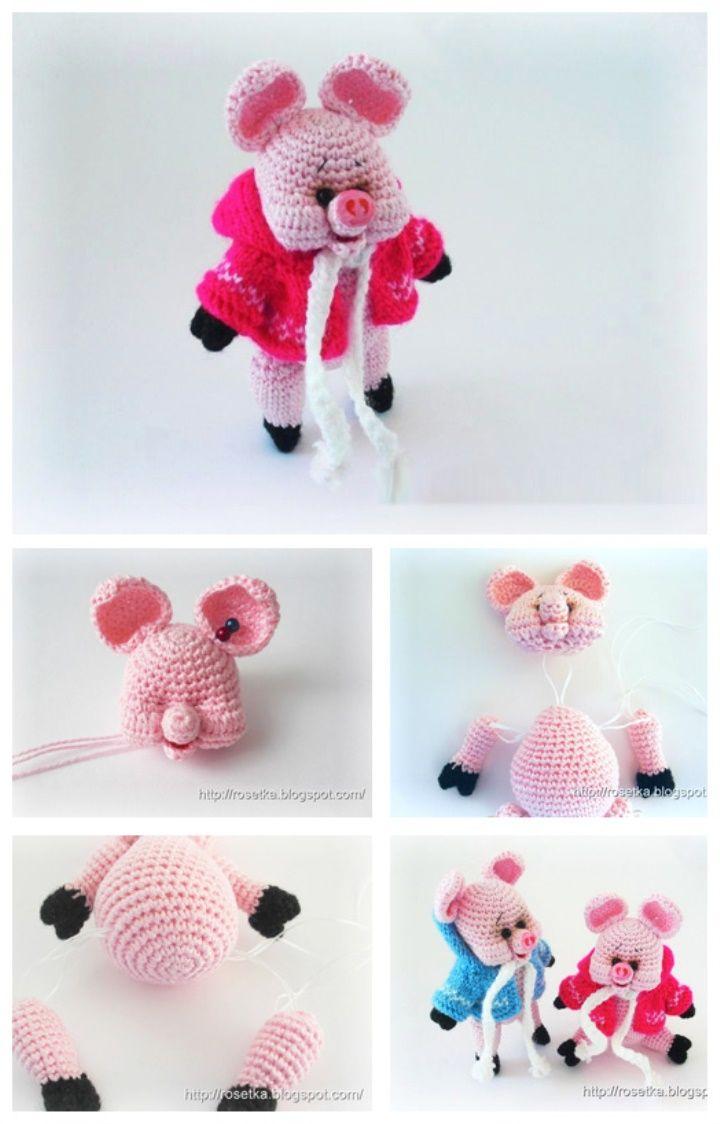 Amigurumi knitted pig amigurumi knitting knitted knit crochet