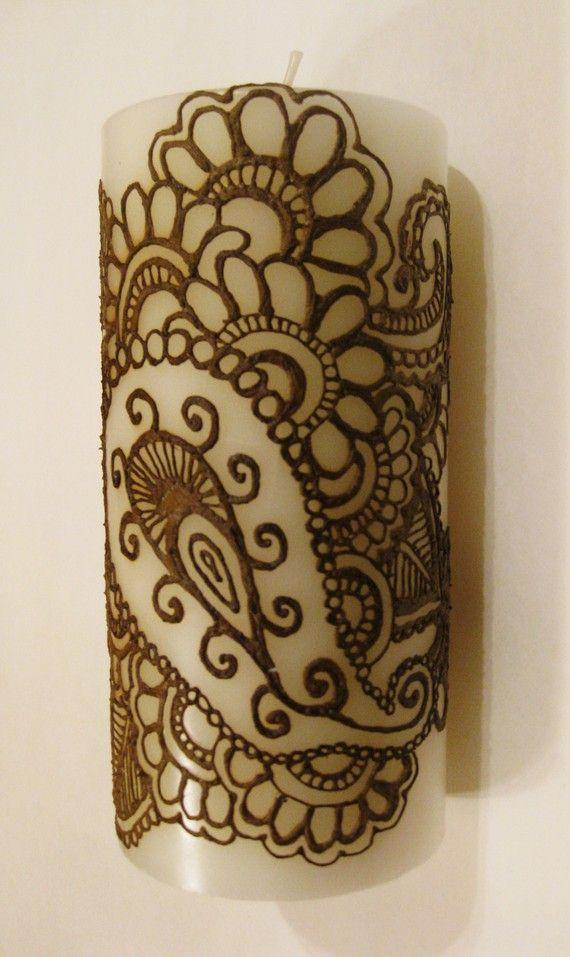 Henna on candle