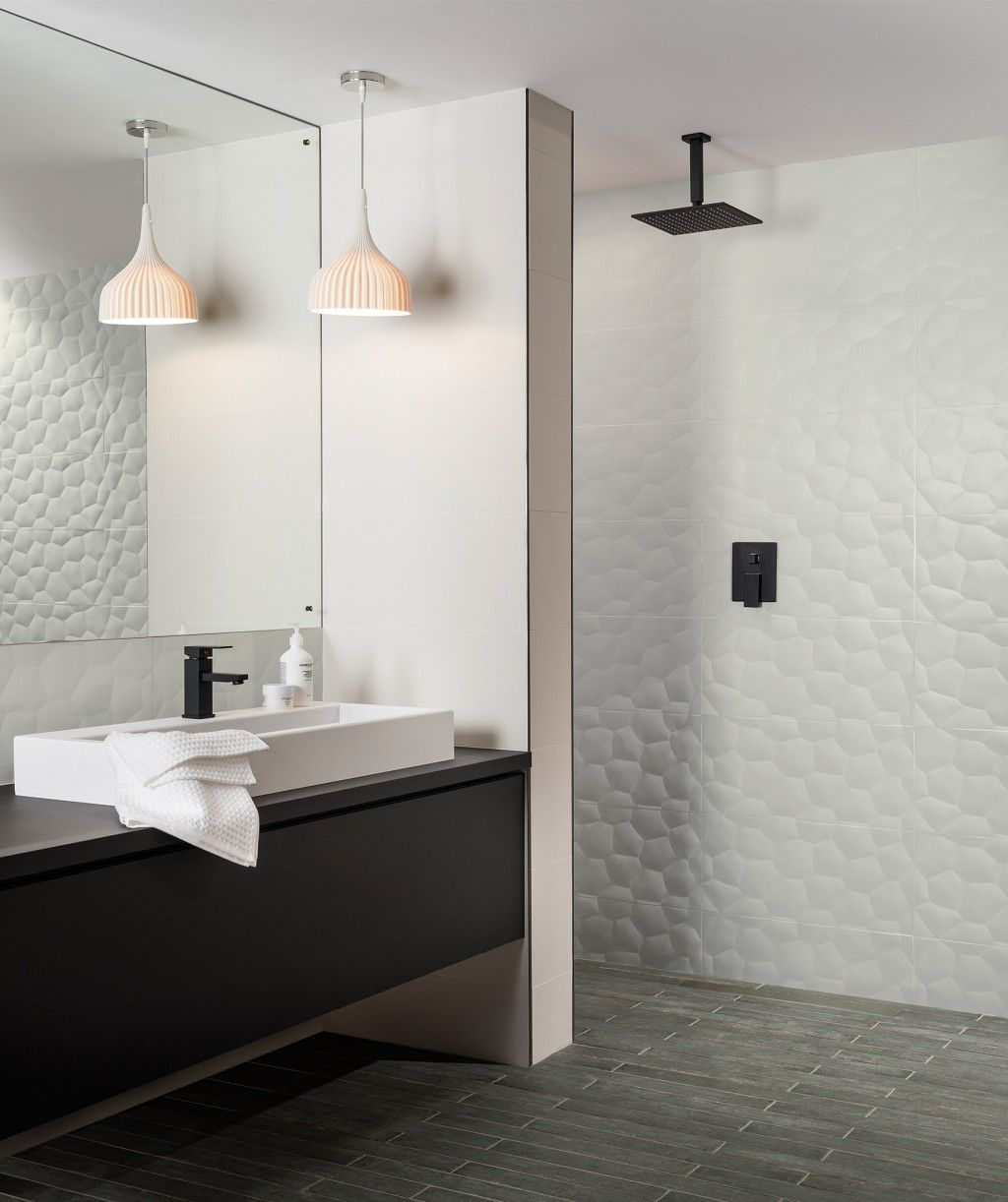 mandara™ honeycomb tile  honeycomb tile white bathroom