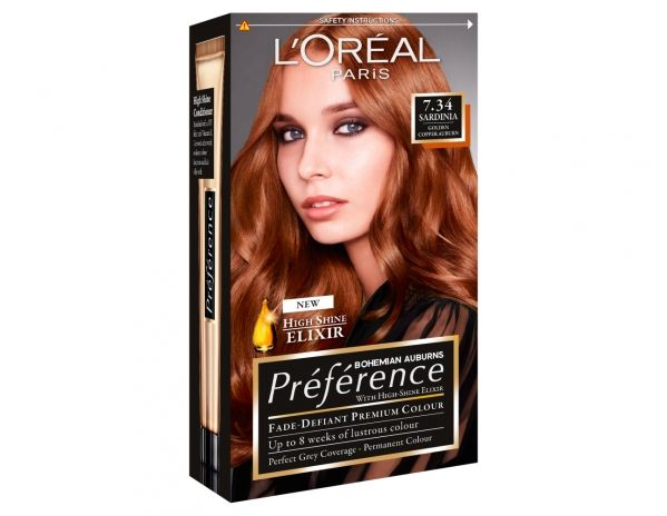 Bohemian Auburn 7 34 Sardinia Lasting Hair Color Hair Dye Colors Loreal Preference Hair Color