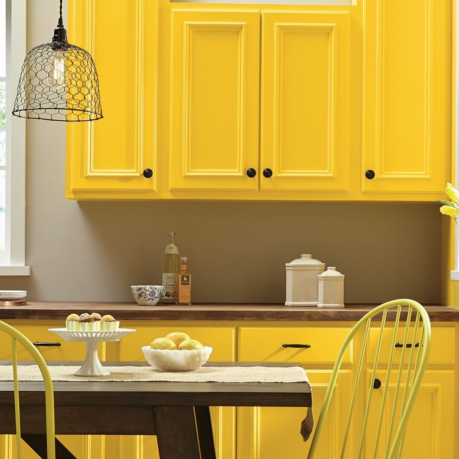 kitchen cabinets painted yellow with black hardware yellow kitchen cabinets kitchen cabinet on kitchen interior yellow and white id=85114