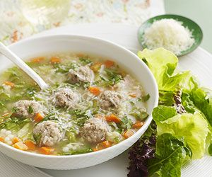 This rich and satisfying soup is filled with meatballs, pasta, and vegetables and simmered in the slow cooker to give the flavors all day to blend.