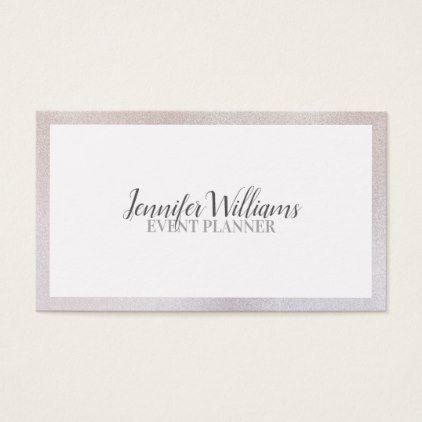 Elegant luxury glitter frame business card stylist business card business cards reheart Choice Image