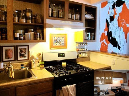 Before & After: An $80 Rental Kitchen Makeover