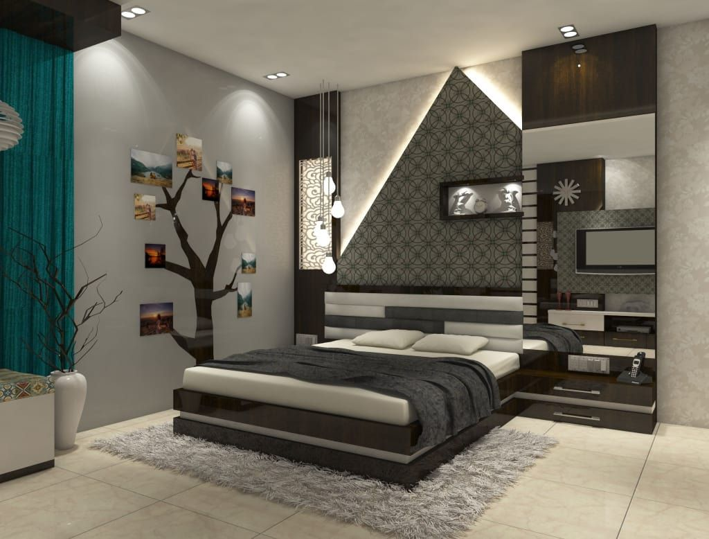 2bhk Flat Interior Merlin Residency Rajarhat Kolkata Modern By Creazione Interiors Modern Modern Bedroom Interior Bedroom False Ceiling Design Stylish Bedroom Design