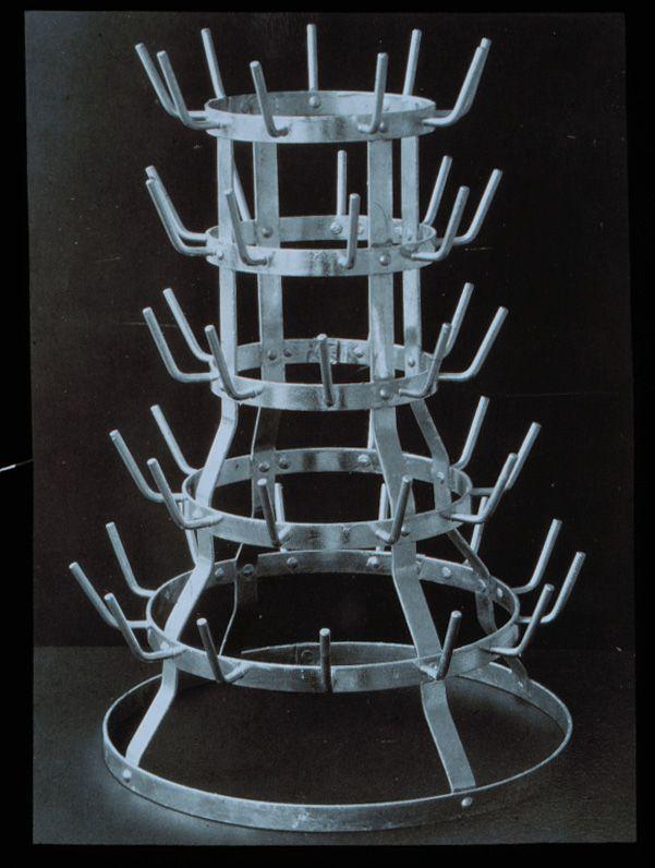 Marcel Duchamp Bottle Rack 1963 Replica Of 1914 Original Readymade Dryer Galvanized Iron X 16 Inches