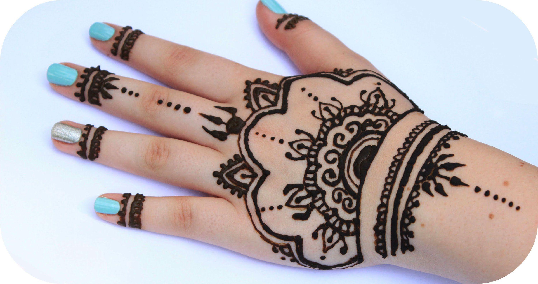Henna Tutorial auf ganze Hand