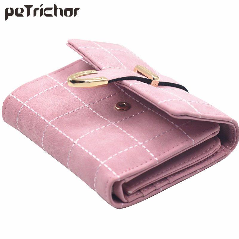 Female Flaid Purse Clutch Bags Women Short Wallet Famous Brand Womens Wallets Carteiras Femininas Credit Card Holder