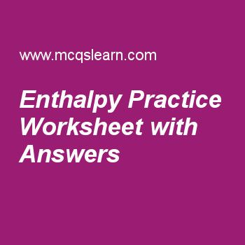 Enthalpy Practice Worksheet With Answers Chemistry Pinterest