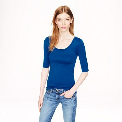 J.Crew - Perfect-fit ballet button tee