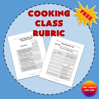 Cooking Class Rubric Food Science Family And Consumer Science Cooking In The Classroom Cooking Classes