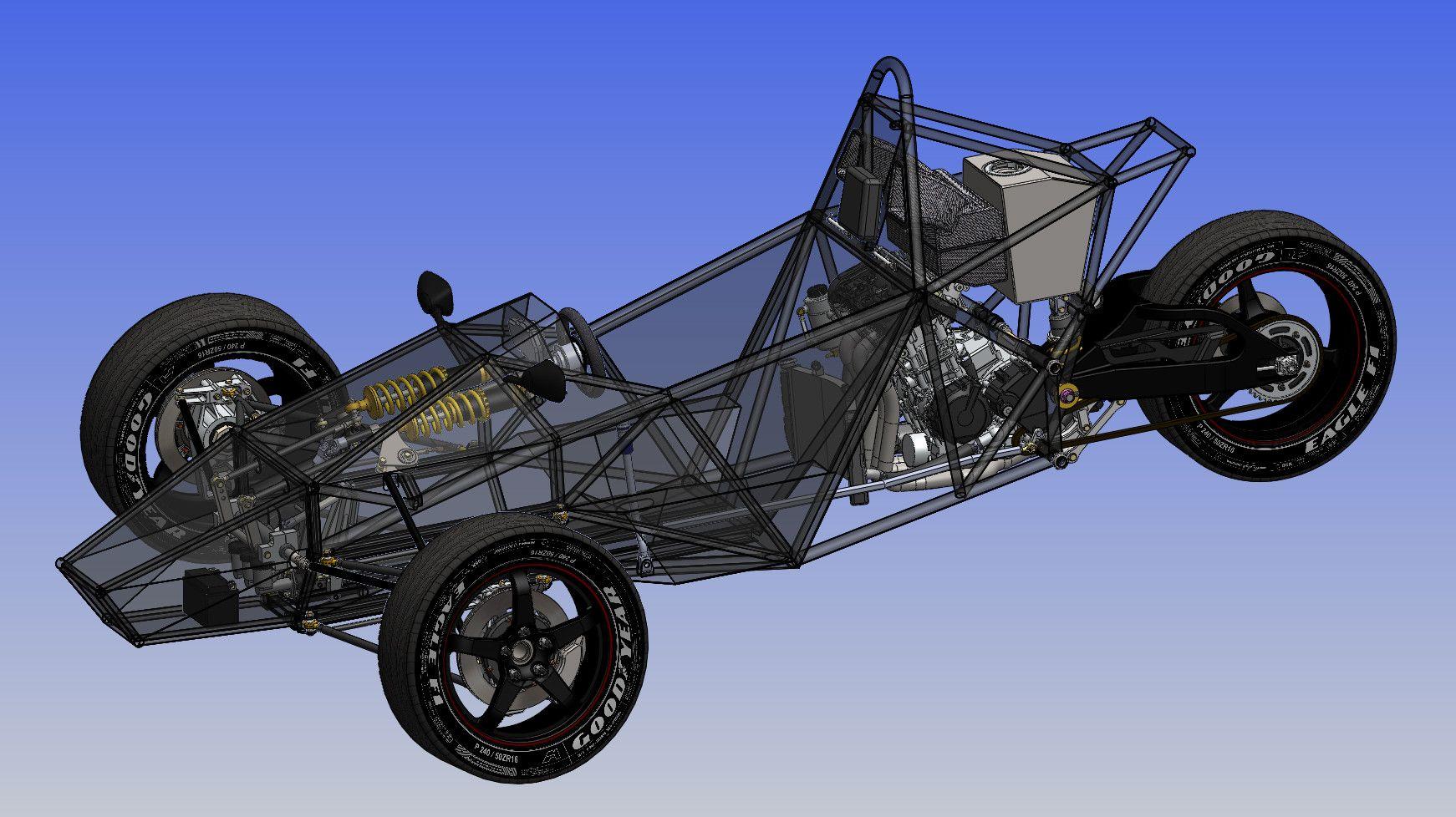 Design of car frame - Trike Tubular Chassis Design