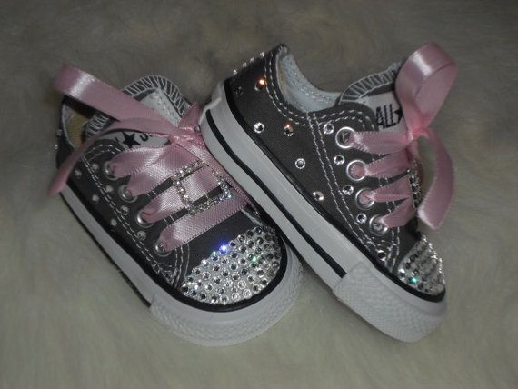 4ab99bfb4cb3 My granddaughter yeeeesssss. Baby infant toddler Converse Chuck Taylors  Swarovski Crystals Bling SHOES ALLSTAR rhinestone Pageant princess PHOTO  Prop girl ...