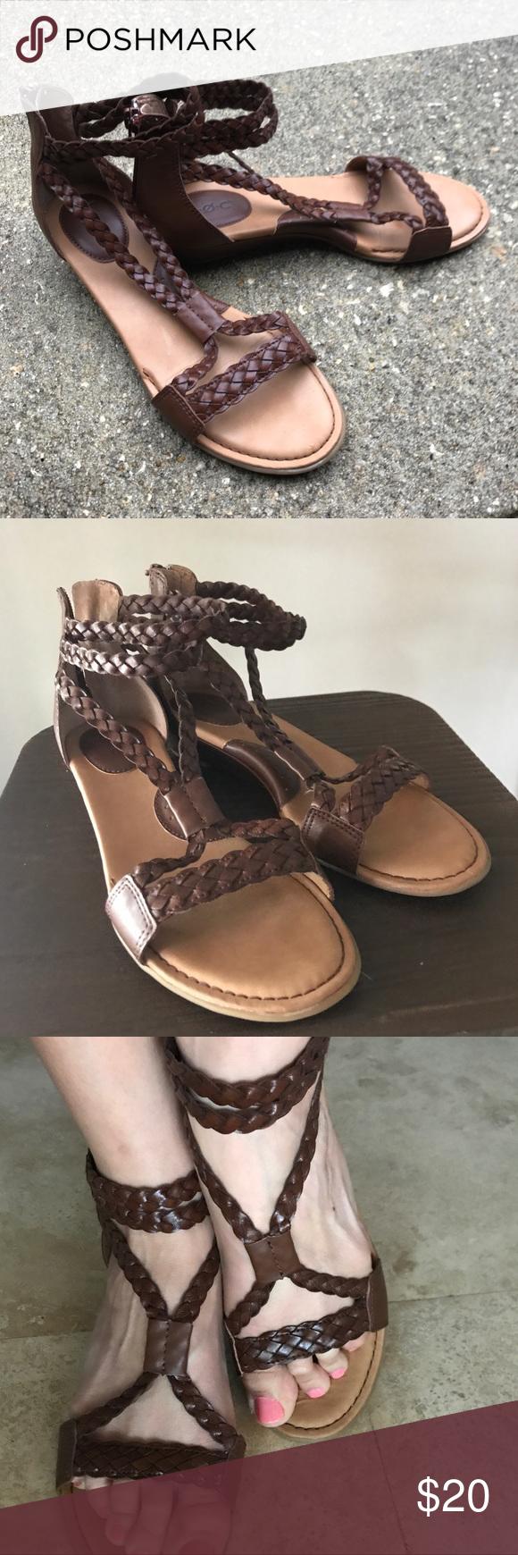 6ad1ed3c474 B.O.C Macedonia Gladiator Sandals Very lightly used. Like New Condition.  Beautiful brown