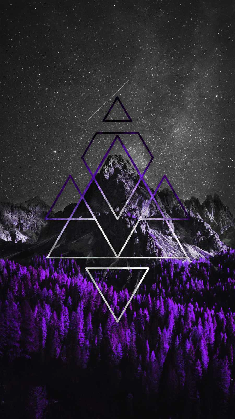 Mountain Triangle Art - IPhone Wallpapers